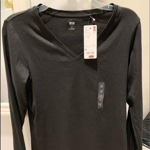 New Uniqlo long sleeve shirt black